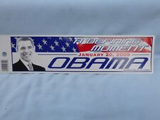 """OBAMA """"A Defining Moment"""" January 20,2009 BUMPER STICKER 10.5"""" x 3"""" VINYL DECAL"""