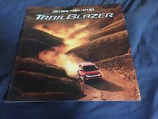 2001 Chevy Chevrolet Trail Blazer SUV Launch Original Brochure Prospekt