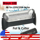 10B Shaver Blade Cutter & Foil Replacement Head for Braun 1000/2000 Series Razor