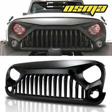 Black Front Gladiator Grill Grille 2007-2018 Jeep Wrangler JK Unlimited Rubicon