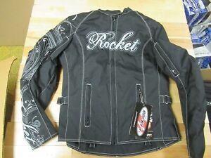 JOE ROCKET MOTORCYCLE TEXTILE JACKET - HEARTBREAKER BLACK XS WOMENS