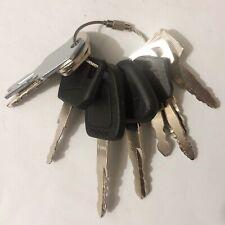 10 keys FORKLIFT Heavy Equipment / Construction Ignition Key Set CAT komatsu JCB