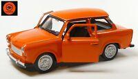 Trabi-Jubiläum 2014: 50 J. Trabant 601 Modellauto 11cm WELLY Sonderfarbe orange