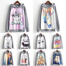 Print Women's Hoodie Sweater Sweatshirt Loose Jacket Coat Pullover Graphic Tops