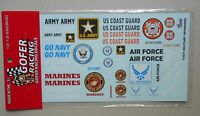 MILITARY SPONSORS 1:24 1:25 GOFER RACING DECALS CAR MODEL ACCESSORY 11031