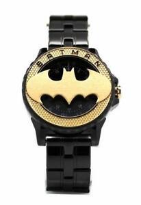 Batman 75th Year Limited Edition Rotator Mens Gold-toned Logo Watch (Bat5113)