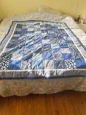"""AUNTY CAROLE CRIB QUILT WORLD FAMOUS 52"""" X 69"""" COTTON FABRIC WALL HANGING"""