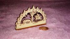 Erzgebirge Schwibbogen Holz Weihnachten Puppenhaus Puppenstube 1:12 Miniatur 33