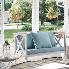 Acacia Wood 4 Foot Hanging Porch Swing Outdoor Home Furniture Pillows Cushion