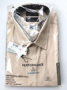 Vtg Covington Button Dress Shirt Men 17 1/2 34/35 Long Sleeve Sears Wrinkle Free