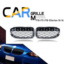 For F10 F11 535i 5 Series 10-16 Diamond Chrome Front Kindey Grill Grille LH+RH