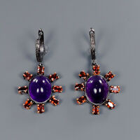 Amethyst Earrings Silver 925 Sterling Special Sale Discount!  /E41697