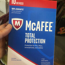 McAfee total protection 10 devices 1 year SUBSCRIPTION------NEW