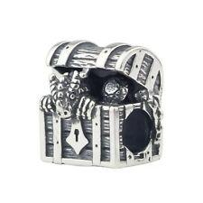 Dragon Treasure Chest 925 Sterling Silver Charm Bracelet Gift Troll Bead Goth