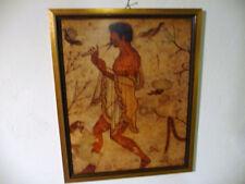 Kunstdruck Ägypten Malerei Krieger im profiliertem vergoldetem Holzrahmen
