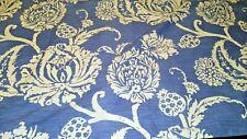 "2 Pillow Shams  King Size  38"" X 23""  Floral   Blue/White    MINT   100% Cotton"