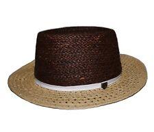 Brixton SUE HAT Womens 100% Paper Straw Medium 7 1/4 58cm Tan Brown NEW
