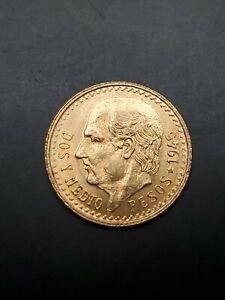 1945 2.5 Pesos Dos Y Medio Pesos Mexico Gold Coin C7