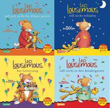 Maxi Pixi Leo Lausemaus Bilderbücher 4 Hefte Leo Lausemaus Serie 1 + BONUS