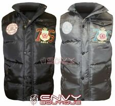 Men's Polyester Gilets Bodywarmers Button Collared Coats & Jackets