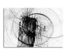 120x80cm Abstrakt_1307 Schwarz Weiß Schnecke Grunge Wandbild Leinwand Sinus Art