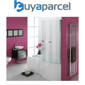 Essential Hampstead P Shaped Shower Bath & Screen 1700 X 900mm Right Hand White