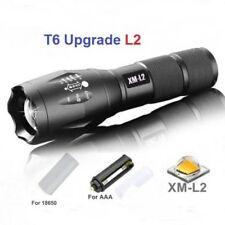 2018 LED Polizei Taschenlampe Cree XML L2 Wiederaufladbare Zoom Licht Handlampe