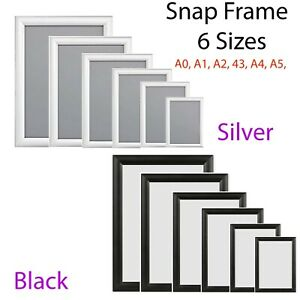 Aluminium A0-A5 All Sizes Snap Poster Frame Clip Picture Photo Holder Display