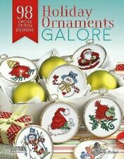 2 Cross Stitch Pattern Books Holiday Christmas Ornaments Galore Ursula Michael