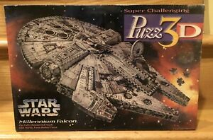 1995 SEALED STAR WARS MILLENNIUM FALCON PUZZ 3D PUZZLE COLLECTIBLE FREE SHIPPING