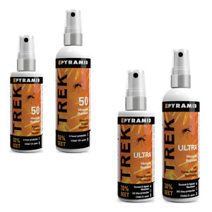 Pyramid Trek DEET Insect Mosquito Repellent Spray Choose Your Strength & Size