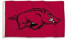 Arkansas Razorbacks 35242 Red 3x5 Outdoor Flag w/Grommets Banner University of