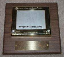 1974 Promotion Trophy Gold Etch A Sketch for 1 Millionith Sold to Employee