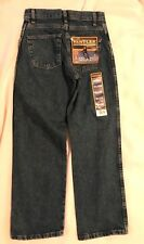 NWT WRANGLER RUSTLER Boys Blue Jeans-Size 12 Regular-Relaxed fit-Cotton