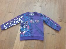 Kenzo Purple Tiger Face Sweater Size 4 year
