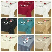 New Premium Quality Damask Jacquard Table clothsTable Runner & Napkins for table