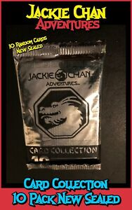 Jackie Chan Adventures Card Collection 10 Pack Brand New Sealed (Random Content)