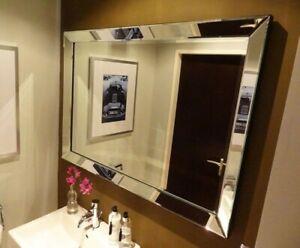 Hochwertiger Wandspiegel 90x70cm Spiegelrahmen von Colmore Spiegel Glasrahmen