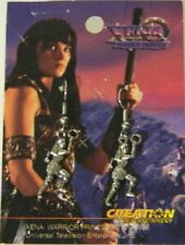 Xena Warrior Princess Xena Figure and Chakram Pierced Loop Earrings NEW UNUSED