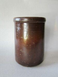 Original Antique 1800s Stoneware Hand Thrown Crock