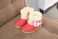Girls Boots Fur Thick Warm Children's Shoes Top Quality Snow Boots Winter