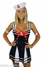 Sexy Pirate Sailor Wench Captain Hook Naughty Halloween Costume 6 8 10