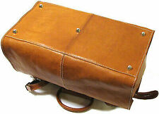 Floto Imports Luggage Parma Traveler Travel Duffel Bag Italian Leather Brown