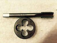 1pc HSS M17X 1mm Plug Right Tap and 1pc M17 X1mm Right Die Threading Tool