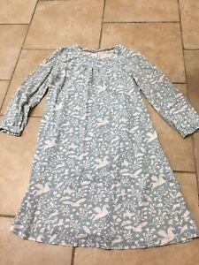Mini Boden Light Blue Fun Animal Nightgown/pajamas, Girls Size 5-6 (116 CM)