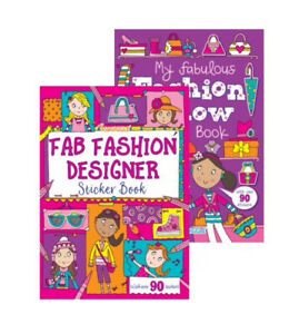 Children's Activity Sticker Books x2 Fab Fashion / Fashion Show Fun Kids Book