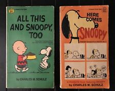 Lot Of 2 Vintage 1960's Peanuts Snoopy Comics Paperback Books