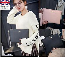 New Quality Women Ladies Leather Purse Clutch Handbag Bag Envelope