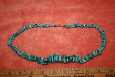 """Vintage Real Turquoise Necklace real nice veins 21"""""""