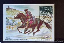 COURRIER A CHEVAL 1964 FRANCE Carte maximum premier jour 1° timbre Yt1406